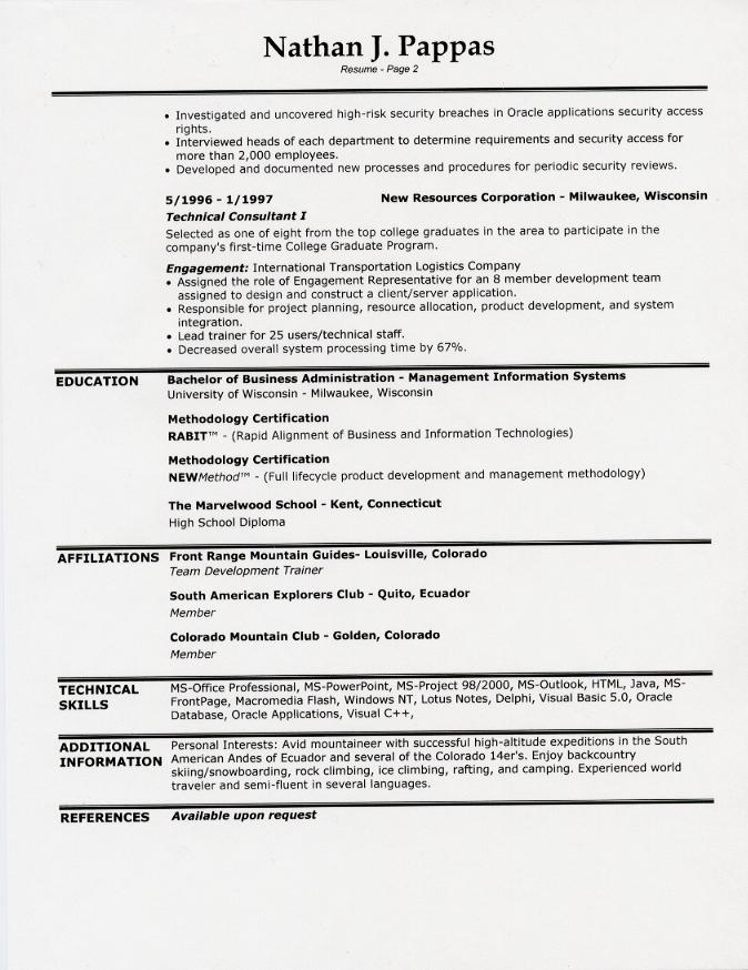 1 page resume format in word one template com wordpress theme free