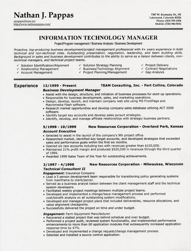 Example Resume: Sample Resume Headings